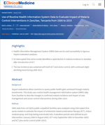 Use of Routine Health Information System Data to Evaluate Impact of Malaria Control Interventions in Zanzibar, Tanzania from 2000 to 2015