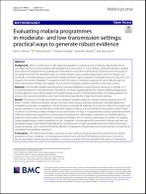 Evaluating malaria programmes in moderate- and low-transmission settings: practical ways to generate robust evidence