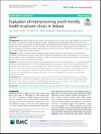 Evaluation of mainstreaming youth-friendly health in private clinics in Malawi