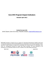 Core OVC Program Impact Indicators