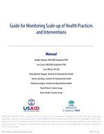 Guide for Monitoring Scale-up of Health Practices and Interventions