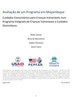 Avaliação de um Programa em Moçambique. Cuidados Comunitários para Crianças Vulneráveis num Programa Integrado de Crianças Vulneráveis e Cuidados Domiciliares