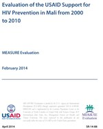 Evaluation of the USAID Support for HIV Prevention in Mali from 2000 to 2010