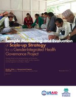 Sample Monitoring and Evaluation of Scale-up Strategy for a Gender-Integrated Health Governance Project