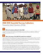 MER OVC Essential Survey Indicators – Frequently Asked Questions (FAQs)
