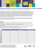 Système national des services sociaux pour les orphelins et les enfants vulnérables: Outil pour la gestion, l'analyse et l'utilisation des données