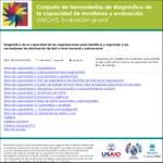 Conjunto de herramientas de diagnóstico de la capacidad de monitoreo y evaluación (MECAT). Evaluación grupal