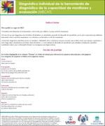 Diagnóstico individual de la herramienta de diagnóstico de la capacidad de monitoreo y evaluación (MECAT)