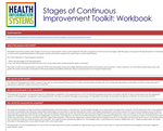 Health Information System Stages of Continuous Improvement Toolkit: Workbook