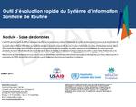 Outil d'évaluation rapide du Système d'Information Sanitaire de Routine: Module - Saise de données