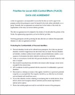 Priorities for Local AIDS Control Efforts (PLACE): Data Use Agreement