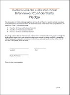 Priorities for Local AIDS Control Efforts (PLACE): Interviewer Confidentiality Pledge