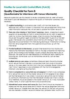 Priorities for Local AIDS Control Efforts (PLACE): Quality Checklist for Form B