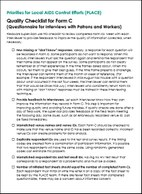 Priorities for Local AIDS Control Efforts (PLACE): Quality Checklist for Form C