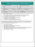 PLACE Form 3-4: Tester Venue Summary Form for Patron/Worker Interviews