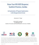 Know Your HIV/AIDS Response: Southern Province, Zambia. An Examination of Program Implementers in the Nongovernment Sector