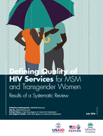 Defining Quality of HIV Services for MSM and Transgender Women: Results of a Systematic Review