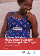 Systemic Barriers to MomConnect's Capacity to Reach Registration Targets – A Process Evaluation