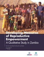 Developing Measures of Reproductive Empowerment – A Qualitative Study in Zambia