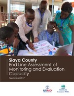 Siaya County: End Line Assessment of Monitoring and Evaluation Capacity