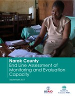 Narok County: End Line Assessment of Monitoring and Evaluation Capacity