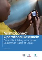 MomConnect Operational Research: Capacity Building to Increase Registration Rates at Clinics