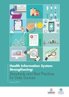 Health Information System Strengthening: Standards and Best Practices for Data Sources