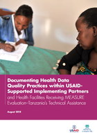 Documenting Health Data Quality Practices within USAID Supported Implementing Partners and Health Facilities Receiving MEASURE Evaluation–Tanzania's Technical Assistance