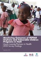 Monitoring Outcomes of PEPFAR Orphans and Vulnerable Children Programs in Haiti: Zanmi Lasante/Partners in Health 2018 Survey Findings