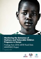 Monitoring the Outcomes of Orphans and Vulnerable Children Programs in Kenya: Findings from 2016–2018 Panel Data: MWENDO Project