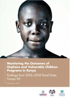 Monitoring the Outcomes of Orphans and Vulnerable Children Programs in Kenya: Findings from 2016–2018 Panel Data: Timiza 90