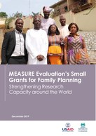 MEASURE Evaluation's Small Grants for Family Planning: Strengthening Research Capacity around the World