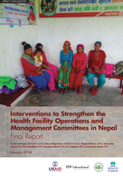 Interventions to Strengthen the Health Facility Operations and Management Committees in Nepal: Final Report