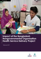 Impact of the Bangladesh Nongovernmental Organization Health Service Delivery Project