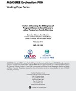 Factors Influencing the Willingness of Pregnant Women in Rural Ghana to Adopt Postpartum Family Planning