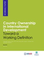 Country Ownership in International Development: Toward a Working Definition