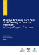 Effective Linkages from Point of HIV Testing to Care and Treatment in Tanga Region, Tanzania