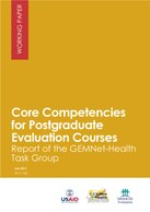 Core Competencies for Postgraduate Evaluation Courses: Report of the GEMNet-Health Task Group