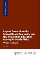 Impact Evaluation of a School-Based Sexuality and HIV-Prevention Education Activity in South Africa: Midline Results