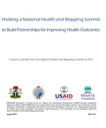 Holding a National Health and Mapping Summit to Build Partnerships for Improving Health Outcomes: Lessons Learned from the Nigeria Health and Mapping Summit of 2011