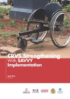 CRVS Strengthening With SAVVY Implementation